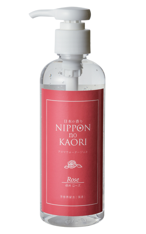 日本の香りシリーズ「アロマウォータージェル ローズ」商品画像